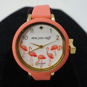 NWT Kate Spade New York Coral Flamingo Watch